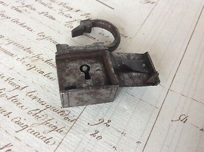 Rare Antique 17th 18th Century Nuremberg Miniature Steel Iron Casket Padlock