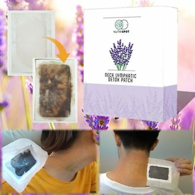 Detox Herbal Patch Nutrispot Neck Lymphatic Anti Swelling Foot Pad 10 Pieces