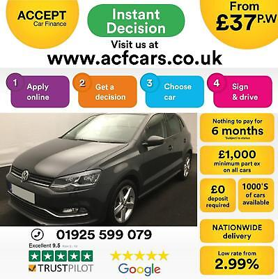 2017 Grey Vw Polo 1.4 Tdi 90 Sel Diesel Manual 5Dr Hatch Car Finance Fr £37 Pw