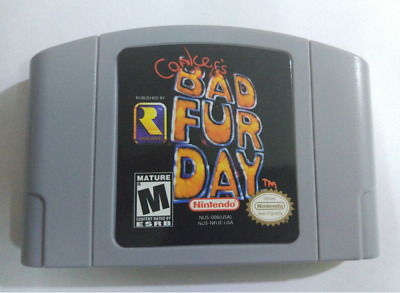 Conker's Bad Fur Day Game for Nintendo 64 N64 System Console Card Cartridge