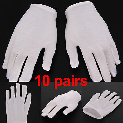 10 Pairs White Cotton Gloves generic Moisturising Lining Gloves For Beauty Work