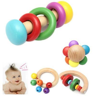 Colorful  Musical Rattle Educational Interactive Wooden Musical Toy for Kids FI