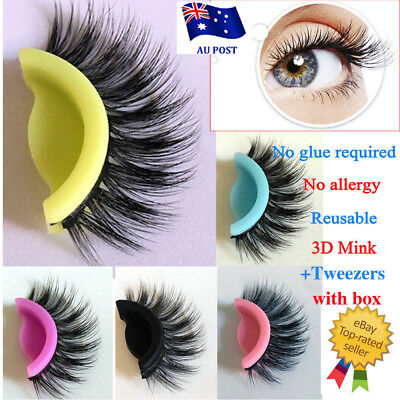 3D Mink Self Adhesive No Glue Luxury Fake Eyelashes Hand Made Extension Reusable