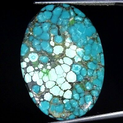 20.70Cts 100% Natural Tibet Turquoise Oval Cabochon Loose Gemstone