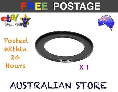 New 58-77mm 58mm to 77mm Metal Step Up Lens Filter Ring Adapter for DSLR Camera