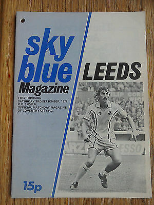 08/01/1977 Coventry City Vs Leeds United First Division Football Match Programme