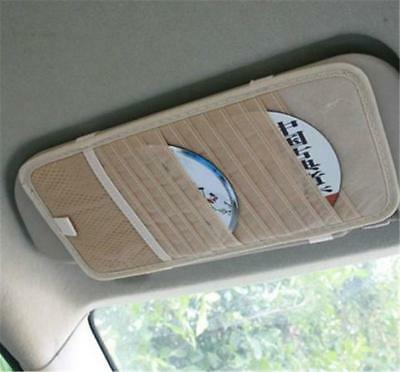12 Disc CD DVD Car Sun Visor Card Case Wallet Storage Holder Bag Tidy Sleeve FI