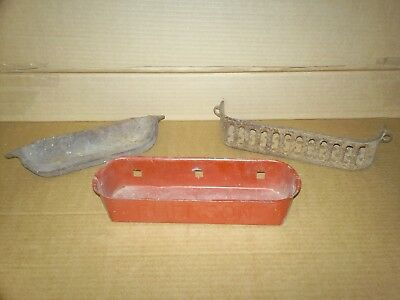 Lot of 3:  Antique Emerson + two unknown tool caddy box - farm tractor binder
