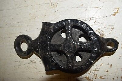 Antique Oak Hill Hay Carrier Pulley