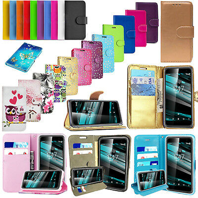 For Vodafone Smart X9 Luxury PU Leather Wallet Stand Case Cover with Card Slots