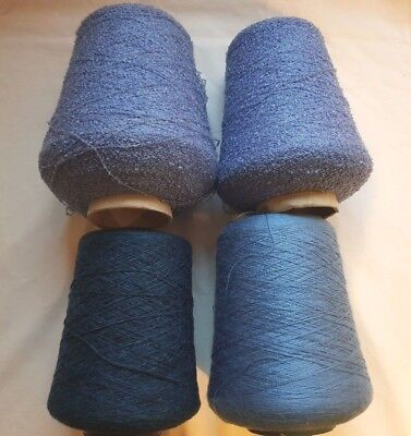 Brother Silver Reed Studio Knitting Machine Cone Yarn Shetland Wool 2 Ply 1.9Kg