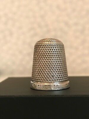 Sterling Silver HG&S Thimble 'The Spa' Size 15 ~ Henry Griffith