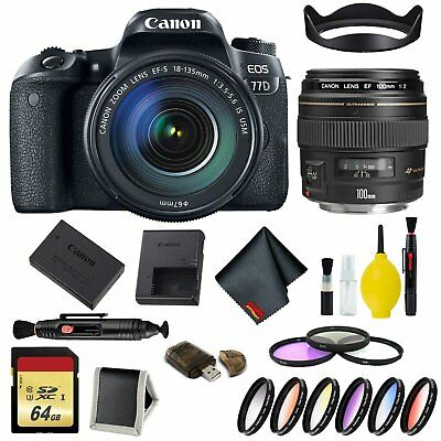 Canon EOS 77D DSLR Camera with 18-135mm USM Lens Complete Kit