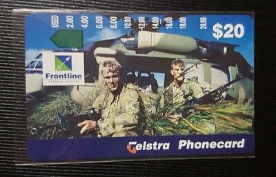 1096 Telstra Phonecard Frontline Defence $20 Helicopter