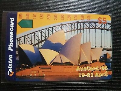 Telstra Phonecard 1996 Auscard $5 Sydney Opera House