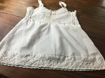 Vintage White Slip with eyelet lace for Baby Girl or Large Doll