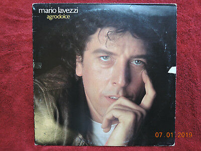 """Mario Lavezzi: Agrodolce, 12"""" LP Vinyl, cleaned+washed, PROMO, VERY GOOD +"""
