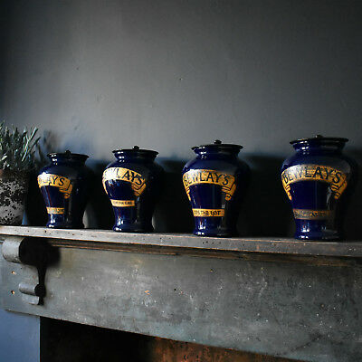 Early 20th Century Tobacconist's Jars - Bewlay's Royal Doulton Stoneware Tobacco