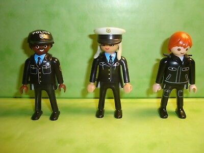 Playmobil : Lot de 3 personnages police playmobil /  characters