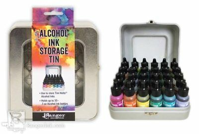 Ranger - Tim Holtz - Alcohol Ink - Storage Tin - Holds .5 oz Bottles