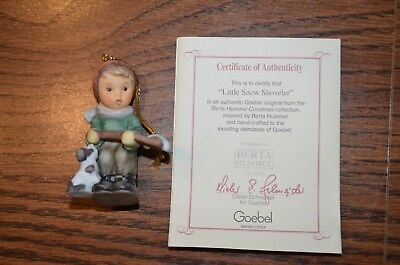 Berta Hummel Christmas Ornament Little Snow Shoveler NEW