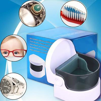 Mini Ultrasonic Cleaner For Gold Silver Necklace Ring Jewelry Coins Keys Watches