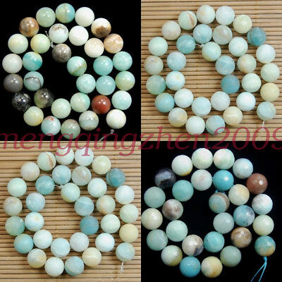 Natural Amazonite Gemstone Round Beads 16'' 4mm 6mm 8mm 10mm 12mm 14mm 16mm