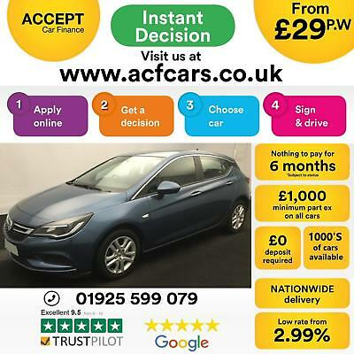 2015 Blue Vauxhall Astra 1.6 Cdti 110 Tech Line Diesel Car Finance Fr £29 Pw