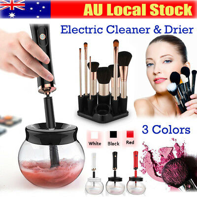Electric Makeup Brush Cleaner And Dryer Set Includes Brush Collar Stand 2018 AU