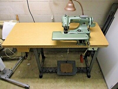 Consew Industrial Blind Stitch Sewing Machine 221 Complete w/ Motor Table