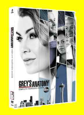 New & Sealed Grey's Anatomy Season 14  ( DVD 2018 5-Disc Set )