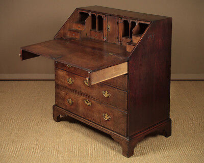 Antique Georgian Oak Bureau c.1790.
