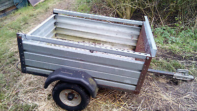 Garden / Quad trailer all metal with new checker plate floor
