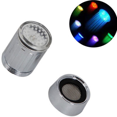 RGB/Single Glow Shower Waterfall Led Light Water Faucet Temperature Sensor Tap