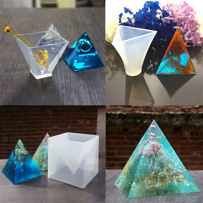3 Sizes Pyramid Shape Silicone Mold Resin Casting Jewelry Making Craft Mould