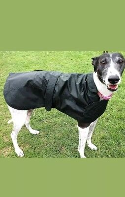 NEW WAXED TARTAN COTTON DOG COAT. 18in, WATERPROOF RAIN OUTDOOR WINDPROOF