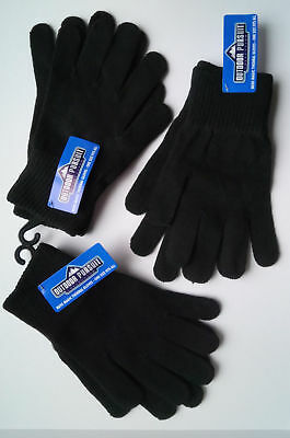 Adults Knitted Thermal Gloves - Outdoor Pursuit Mens Magic Glove Rrp £5