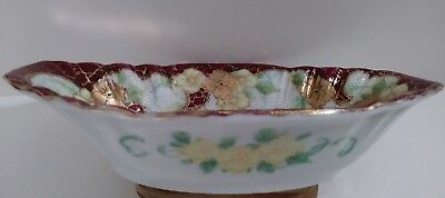 Antique Bone China Nut-Candy Dish Beautifully Hand Painted