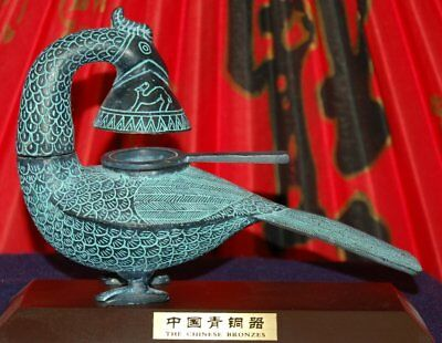 Authentic Old Chinese Bronze Phoenix Oil Lamp - Limited Quantities
