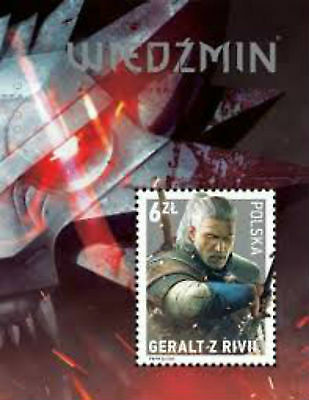 The Witcher 3 Wild Hunt Stamp Geralt of Rivia Official Polish 6 Zloty