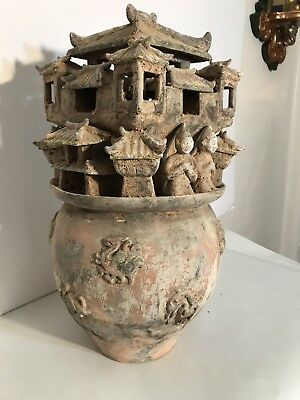 Chinese Han Dynasty Style Moulded Pottery Urn