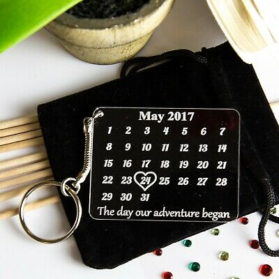 Personalised Keyring Gift Novelty The Day Our Adventure Began Wedding keychain