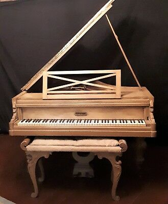 Exquisite Pleyel Piano Grand Piano France 1888 With Bench
