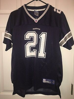 reputable site f22ae 9e357 NFL DALLAS COWBOYS Reebok jersey size XL youth 18/20 J Jones # 21 Blue FREE  SHIP