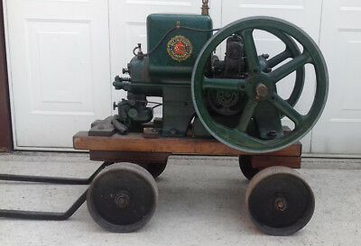 """Early Ruston Hornsby """"APR"""" Stationary Engine On Steerable Trolley"""