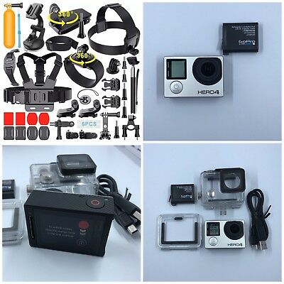GoPro HERO4 Silver Camera CHDHY-401 + 64GB Card + Extreme Sports Bundle!