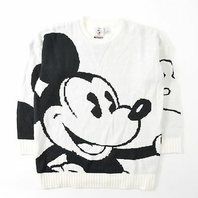 30a259488ff Disney Mickey Co Forever 21 Oversized Sweater Off White All Over Womens  Small S
