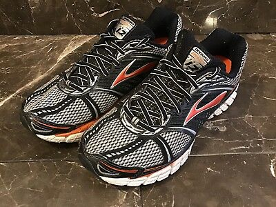 54810c10335 Brooks Mens 9.5 Trance 12 Silver Orange Copper Running   Athletic Shoes.