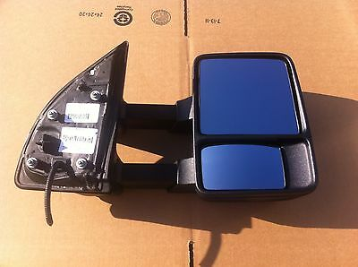 2011-16 Ford Super Duty Truck F250 F350 Manual Extending Folding Towing Mirror