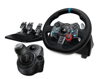 Logitech G29 Driving Force Racing Wheel with Pedals & Shifter PS3/PS4, SEALED